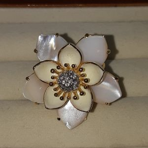Juicy Couture White Waterlily Ring